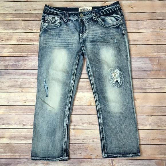 6084fc8a81c Hydraulic Denim - Hydraulic Denim Distressed Crop Jean  Size 16
